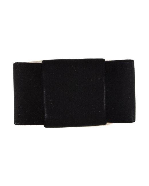 Miu Miu | Black Miu Satin Bow Cuff Bracelet | Lyst