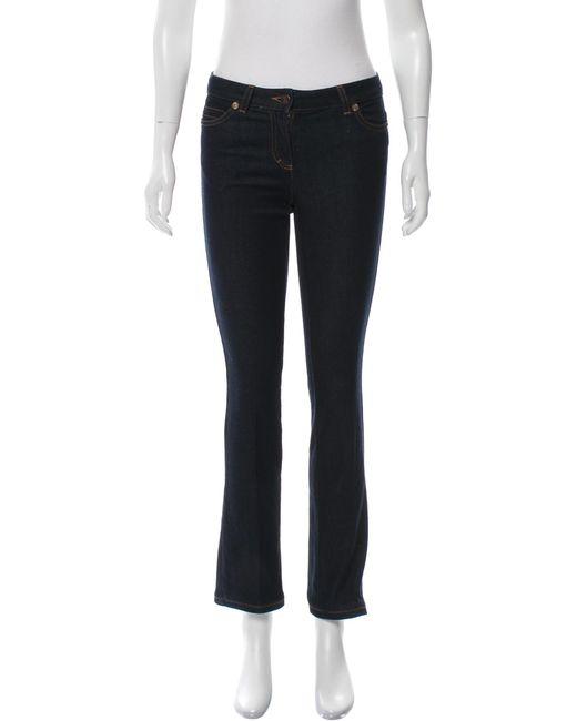 Roberto Cavalli | Blue Mid-rise Straight-leg Jeans | Lyst