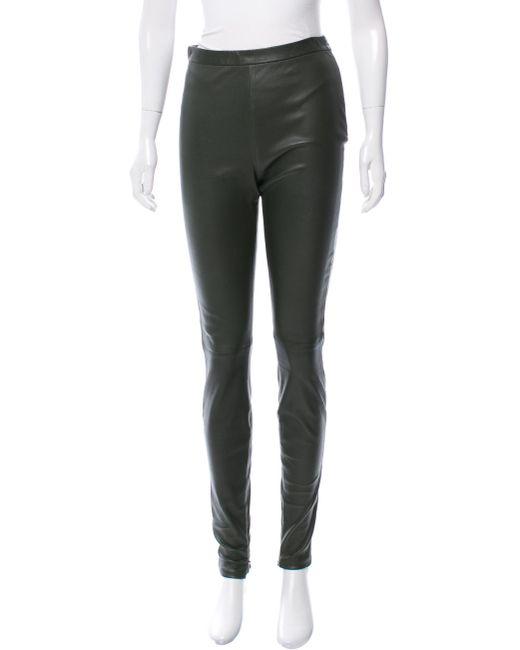 Jean Paul Gaultier | Green Leather Skinny-leg Pants W/ Tags | Lyst