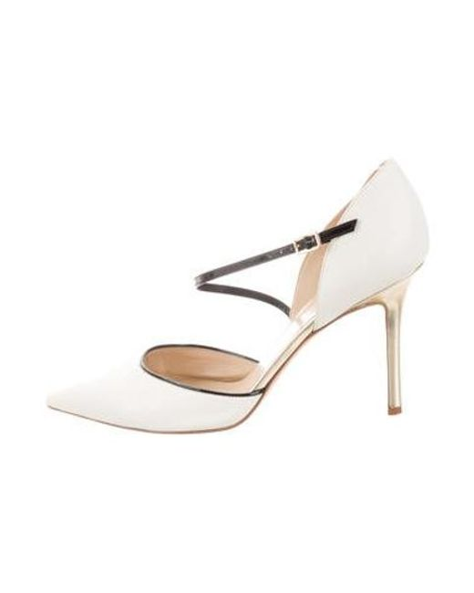d3668c14cf4 Kate Spade - Metallic Leather Ankle-strap Pumps White - Lyst ...