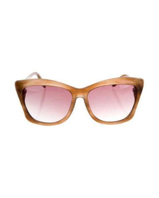 9366c2c148f5 Tom Ford - Brown Lana Cat-eye Sunglasses - Lyst ...