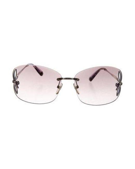 658f6f4fc2 Louis Vuitton - Metallic Lily Rimless Sunglasses Silver - Lyst ...