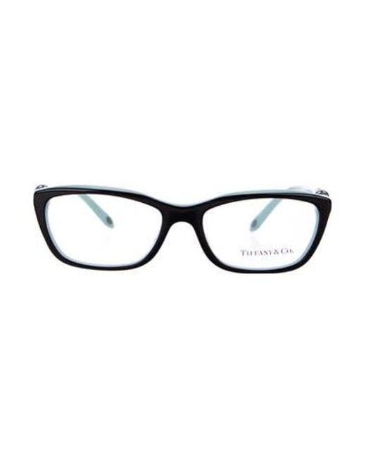 fa476d983dc Tiffany   Co - Metallic Square Logo Eyeglasses Black - Lyst ...