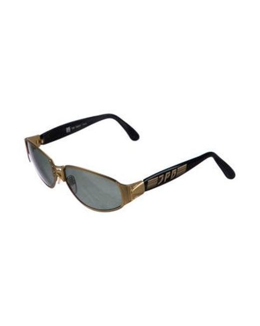 39ccc2ae668 ... Jean Paul Gaultier - Metallic Oval Tinted Sunglasses Gold - Lyst ...