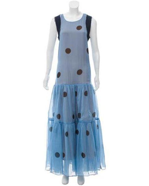 Natasha Zinko - Blue Sleeveless Silk Gown - Lyst