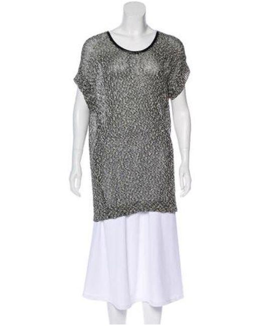 Robert Rodriguez - Black Short Sleeve Knit Top - Lyst