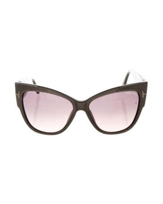 e4ed14d399 Tom Ford - Gray Anoushka Cat-eye Sunglasses Grey - Lyst ...