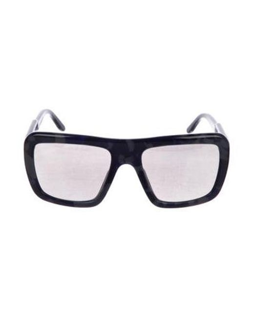 079c2cfb4b Stella McCartney - Blue Square Mirrored Sunglasses - Lyst ...