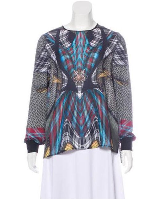 7887a87d59d01 Clover Canyon - Black Printed Long Sleeve Top - Lyst ...