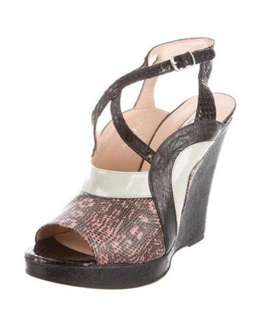dbeb4256eb9 ... Dries Van Noten - Multicolor Embossed Wedge Sandals W  Tags - Lyst ...