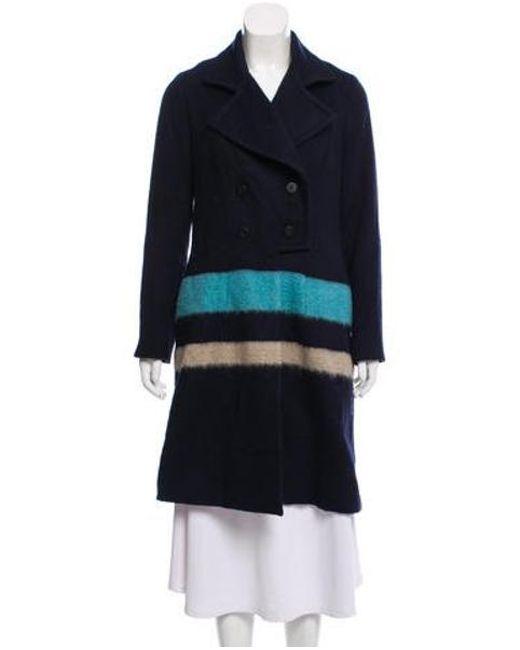 Lela Rose - Blue Wool Knee-length Coat - Lyst ... e153a145f