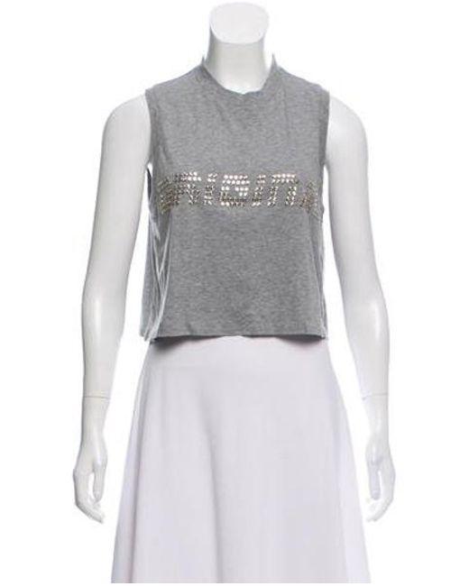b78448835846b Alexander Wang - Gray Cropped Knit T-shirt Grey - Lyst ...