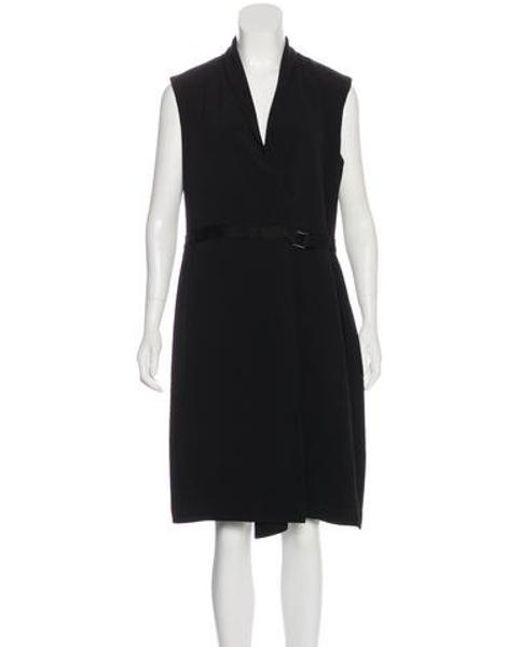 4d4787e6e56 The Row - Black Sleeveless Midi Dress - Lyst ...