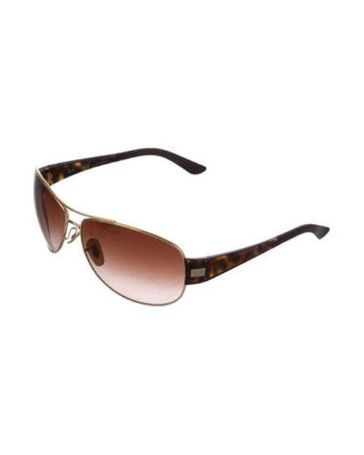 302e92689c ... Ray-Ban - Metallic Round Tinted Sunglasses Gold - Lyst ...