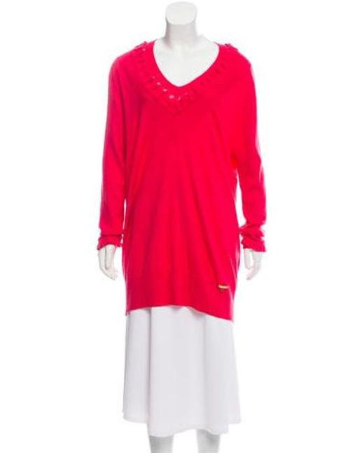 John Galliano - Pink Lightweight Wool Sweater - Lyst ... d7baa7120