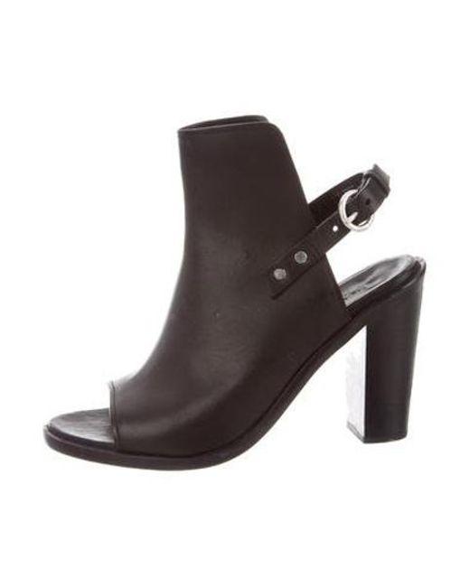 aa54d7a0335 Rag   Bone - Metallic Leather Peep-toe Pumps Black - Lyst ...