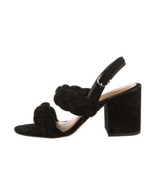 86f4298a1c2e Rebecca Minkoff - Black Suede Slingback Sandals - Lyst ...