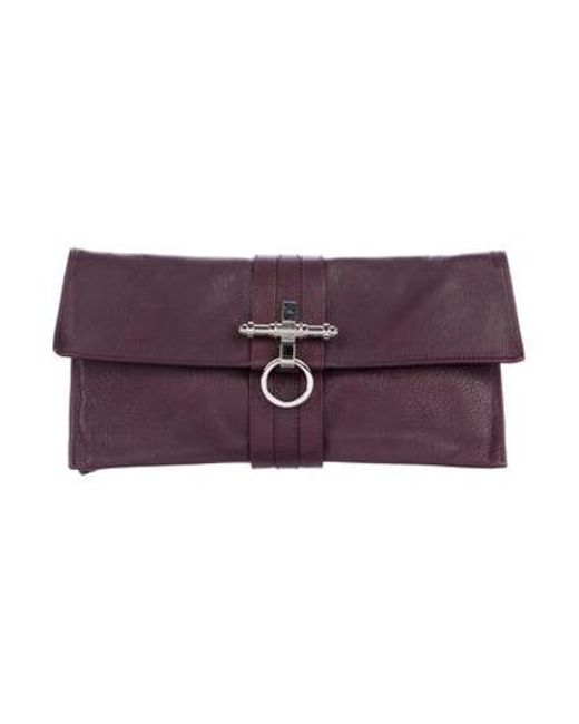 a430ef1eaa Givenchy - Metallic Obsedia Leather Clutch Silver - Lyst ...