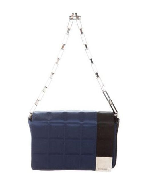 968dcbe1092b Lyst Chanel Satin Square Quilt Mini Flap Bag Black In Metallic