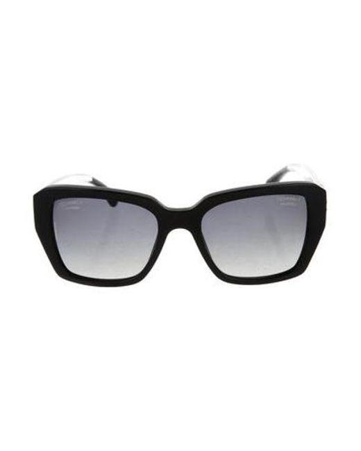 79ad1229306 Chanel - Black Polarized Cc Sunglasses - Lyst ...