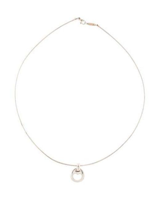 e71b624bc Tiffany & Co - Metallic Vintage Stencil Heart Pendant Necklace Silver ...