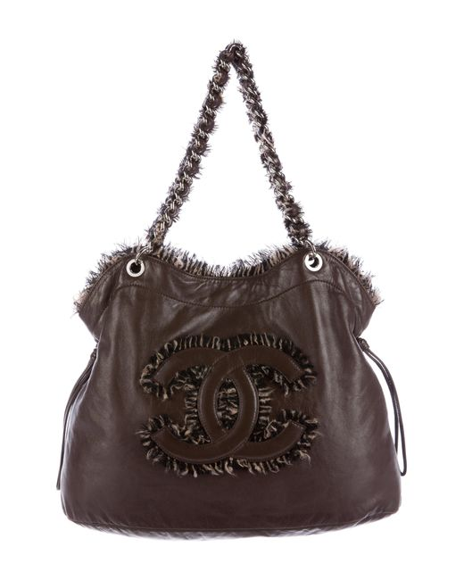 Chanel | Metallic Funny Tweed Bon Tote Brown | Lyst