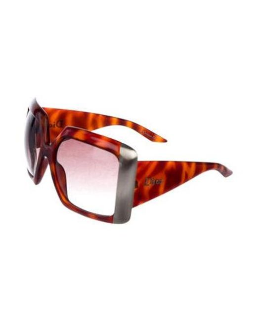 d224d03d76170 ... Dior - Metallic Gradient Oversize Sunglasses Brown - Lyst ...