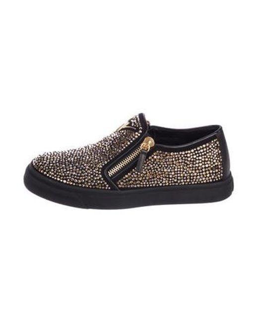 957e5d3c14d Giuseppe Zanotti - Metallic Beaded Slip-on Sneakers Black for Men - Lyst ...