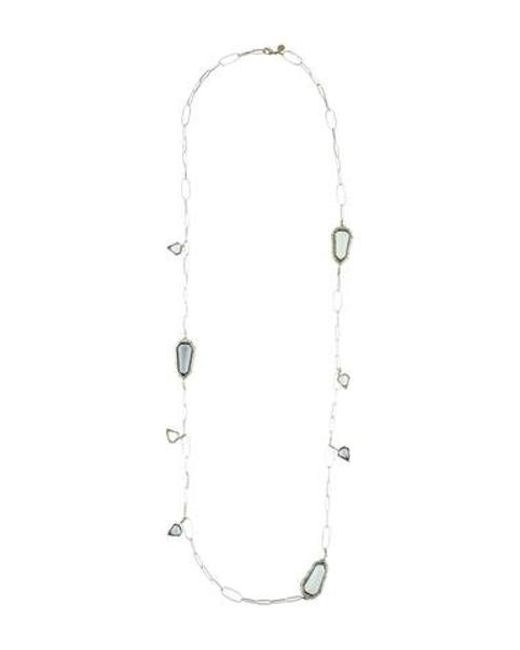 Alexis Bittar - Metallic Quartz & Crystal Miss Havisham Station Necklace Silver - Lyst