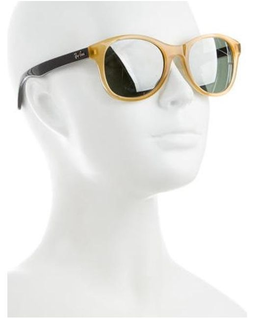 42c42a22e9 ... Ray-Ban - Metallic Round Tinted Sunglasses Brown - Lyst