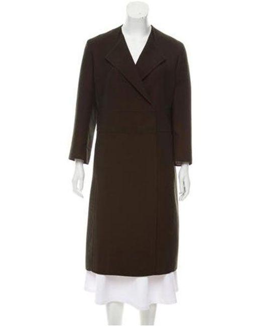 Akris - Green Long Wool Coat Olive - Lyst ... e91424980