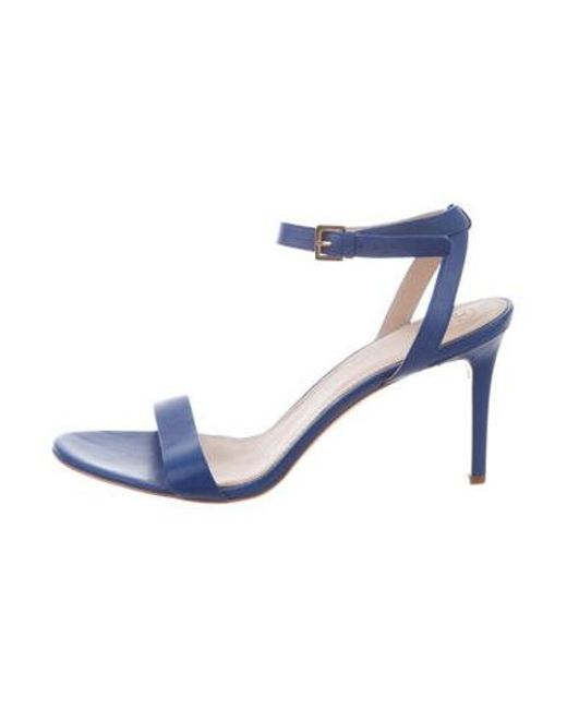 44374ddbbe8 Tory Burch - Blue Leather Ankle-strap Sandals - Lyst ...