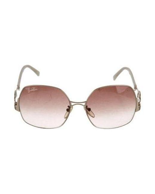 95166ceb00 Emilio Pucci - Metallic Square Oversize Sunglasses Gold - Lyst ...