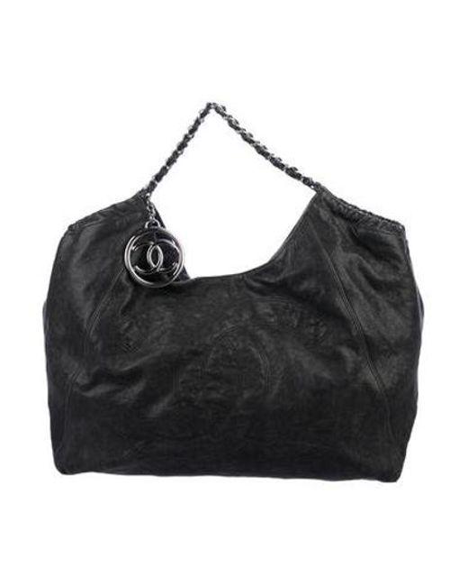 fa94cee6e5c Chanel - Metallic Xl Coco Cabas Tote Grey - Lyst ...