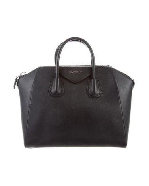 3fd46f4c61 Givenchy - Metallic Medium Antigona Handle Bag Black - Lyst ...