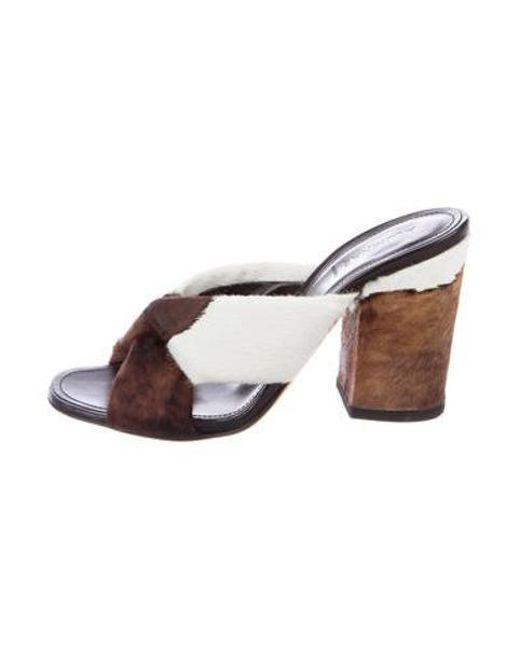 3544eabb154 Alumnae - Brown Ponyhair Slide Sandals - Lyst ...
