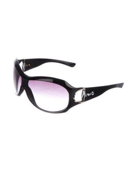 a69196ea74503 ... Dior - Black Gradient Logo Sunglasses - Lyst ...