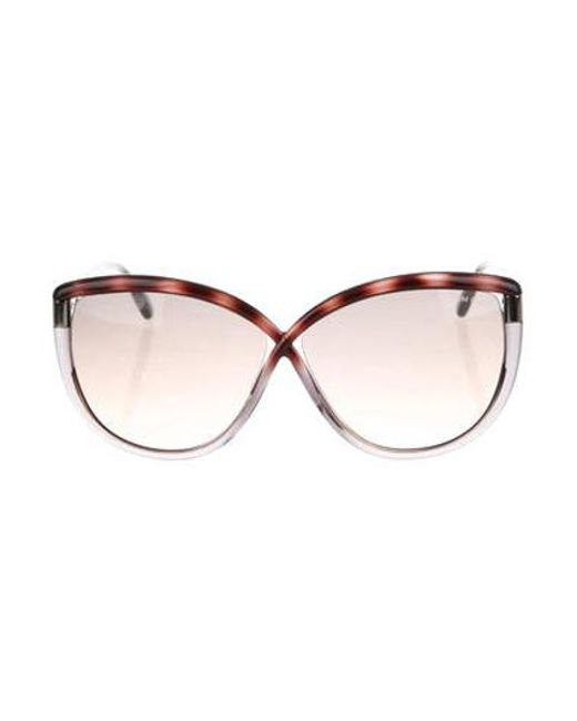 a6aab88a795f Tom Ford - Gray Abbey Oversize Sunglasses W  Tags Grey - Lyst ...