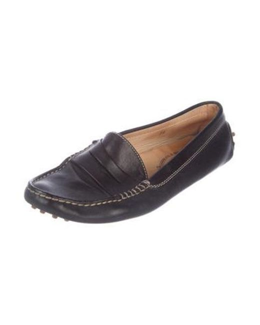 4bb1fd18f9d ... Lyst Tod s - Black Leather Penny Loafers ...