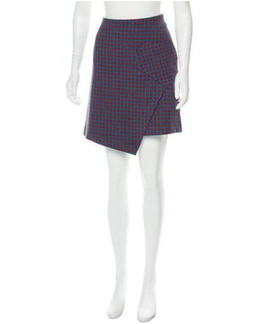 8fa3d394ab Vivetta - Natural Plaid Mini Skirt Pattern Prints - Lyst ...