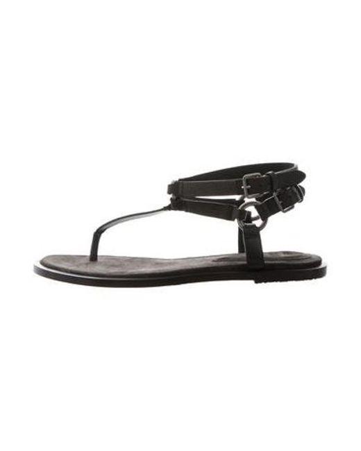 6916974a0b2 Brunello Cucinelli - Gray Monili Thong Sandals Grey - Lyst ...