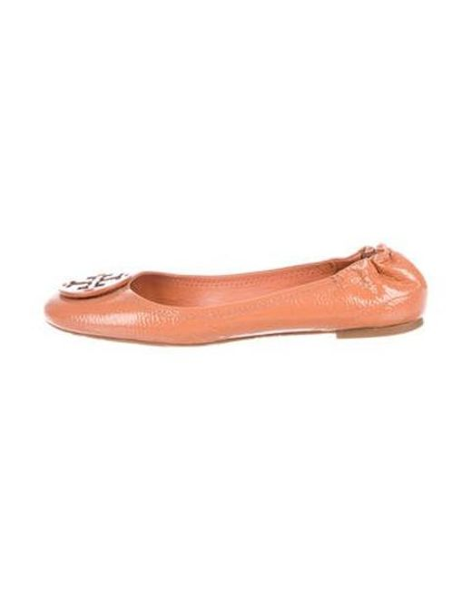 723cde46a Tory Burch - Brown Patent Leather Ballet Flats - Lyst ...