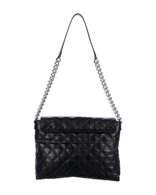 e1993c92eae ... Marc Jacobs - Metallic Xl Leather Quilted Bag Black - Lyst