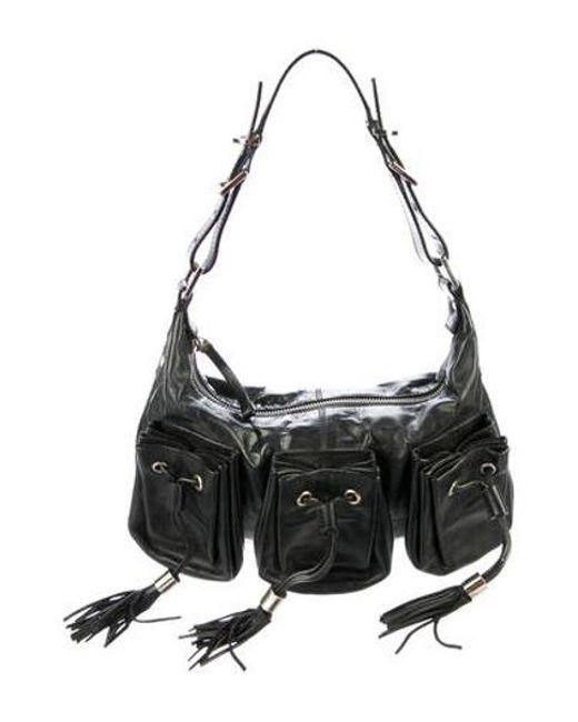 66c5f9f47e Givenchy - Metallic Leather Shoulder Bag Black - Lyst ...