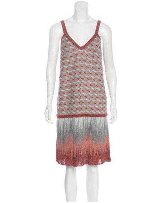 78932db04e0 M Missoni - Brown Sleeveless Sweater Dress - Lyst ...