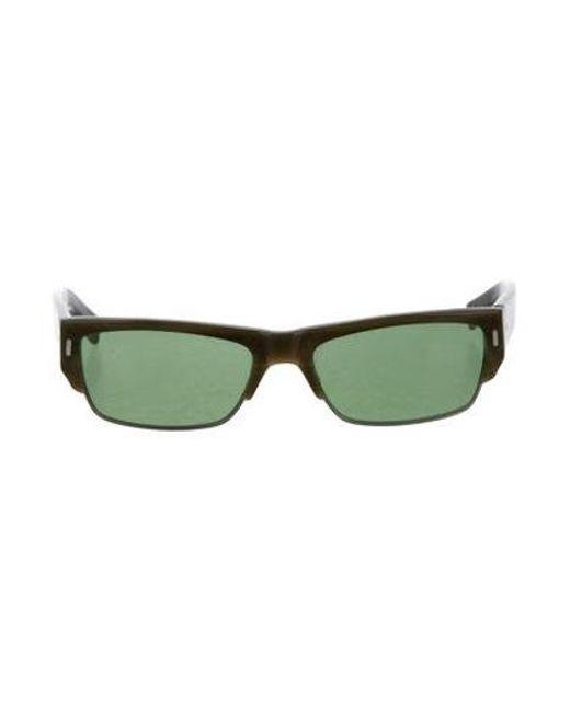 cbe377da4ed Dita - Green Tinted Squae Sunglasses - Lyst ...