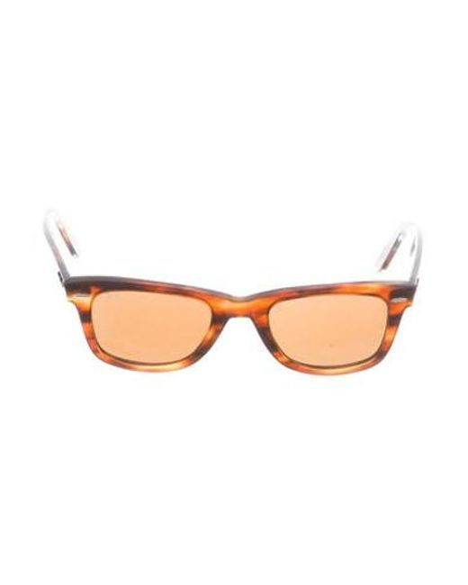 66f3626296 Ray-Ban - Metallic Tortoiseshell Wayfarer Sunglasses Brown - Lyst ...