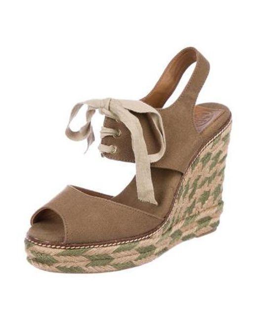 81f620b22bf ... Tory Burch - Brown Platform Wedge Sandals - Lyst ...