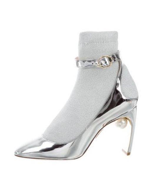 0980c8f414e Nicholas Kirkwood - Metallic Lola Pearl Sock Pumps W  Tags - Lyst ...