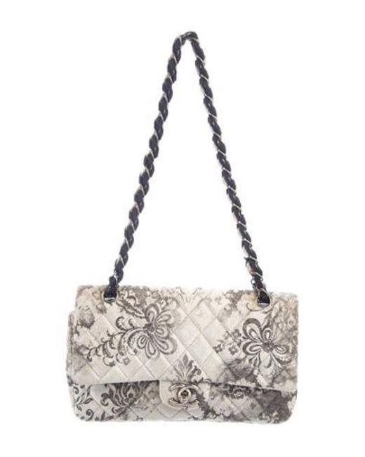 1174dbcc5aa Chanel - Gray Velvet Burnout Medium Double Flap Bag Grey - Lyst ...